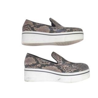 Stella McCartney Snake Print Flatform Sneakers