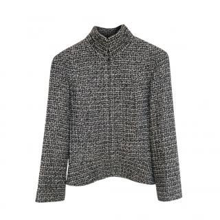 Chanel Black & Ecru Lurex Woven Tweed Jacket
