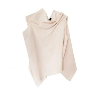 Roland Mouret Double Face Cream Wool Crepe Eugene Top
