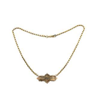 Bespoke Victorian Rose Gold Horse Shoe Necklace