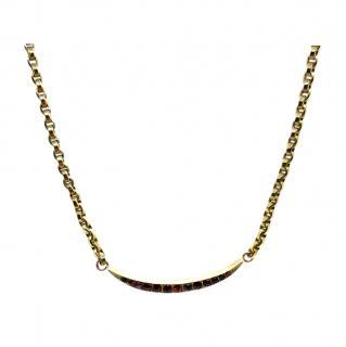 Bespoke Rose Gold Victorian Garnet Necklace