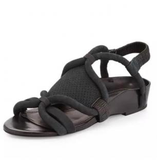 3.1 Phillip Lim Black Marquise Flat Sandals