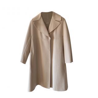 Max Mara Double Face Cashmere & Wool Wrap Coat