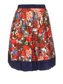 Marni Floral Print Cady Balloon Skirt