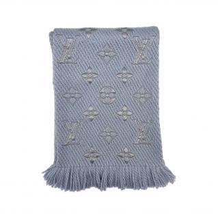 Louis Vuitton Blue Logomania Shine Shawl