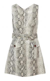 Zimmermann Python Print Grey Corsage Safari Mini Dress
