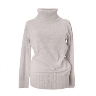 Max Mara Virgin Wool & Cashmere Sand Roll Neck Jumper