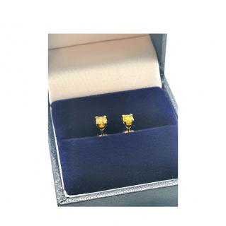 Bespoke Yellow Diamond 18ct Yellow Gold Studs
