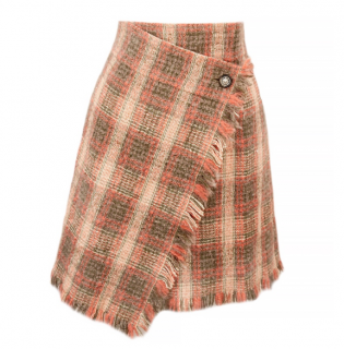 Chanel Paris - Edinburgh Tweed High Waisted Wrap Skirt