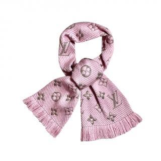 Louis Vuitton Rose Ballerine Logomania Shine Shawl
