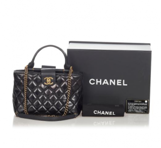 Chanel Quilted Lambskin Flap Top handle Bag