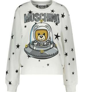 Moschino Couture White Space Teddy Sweatshirt