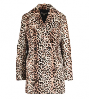 Iro Leopard Print Goat Fur Jessie Coat