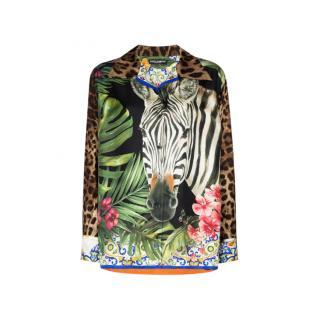 Dolce & Gabbana Women's Shirt in Multicolor SIlk