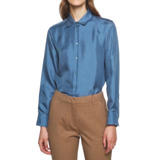 MaxMara Blue silk Vader shirt