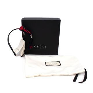 Gucci Kids M Web Navy & Red Ribbon Headband