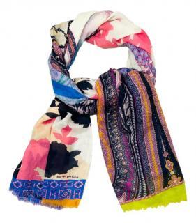 Etro Paisley Cashmere Multicoloured Scarf