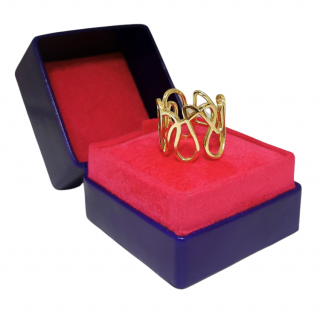 Repossi 18ct Yellow Gold White Noise Ring