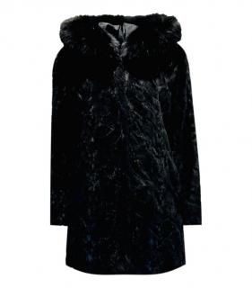Bespoke Black Mink Fur & Fox Fur Coat