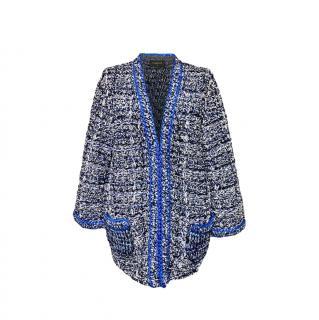 Chanel Blue Lurex Woven Tweed Oversize Jacket