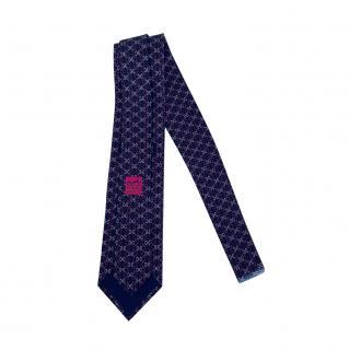 Hermes Limited Edition Rainbow Loom Silk Tie
