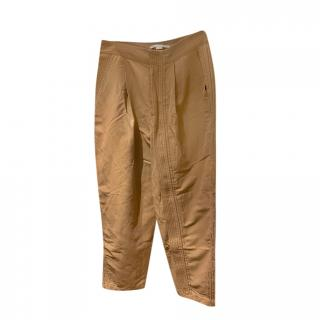 Stella McCartney Camel Stitch Detail Full Zip Pants
