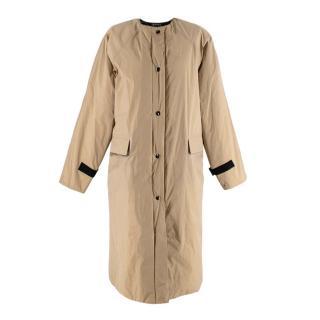 KASSL Editions Khaki Coated Taffeta Padded Coat
