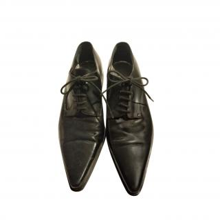 Dolce & Gabbana Black Pointed Toe Lace-Ups