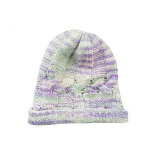 Missoni Lavender & Mint Green Cable Knit Hat