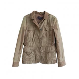 Etro Khaki Cashmere Lined Lightweight jacket