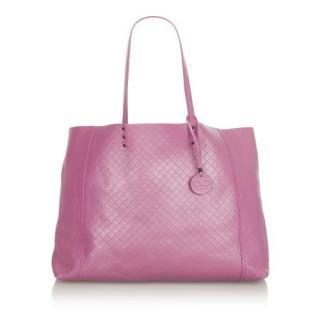 Bottega Veneta Intrecciomirage Leather Tote Bag