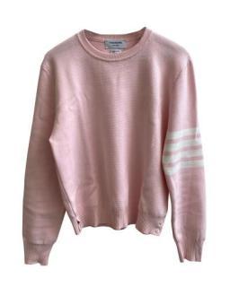 Thom Browne Light Pink Milano Stitch 4-Bar Pullover