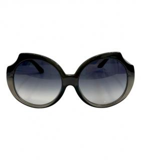 Marc By Marc Jacobs Cut-Out Black Oversize Sunglasses