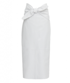 The Attico White leather Butterfly Midi Skirt