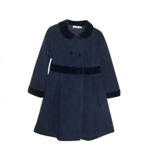 Patachou kids 6Y Double Breasted Navy Coat