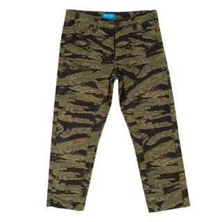 MiH Phoebe Green Camouflage Cotton Cargo Trousers