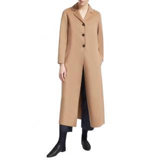 Max Mara Camel Double Face Longline Coat