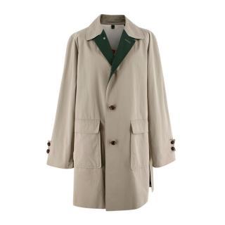 Burberry Prorsum Archive Inspired Cotton Gabardine Car Coat