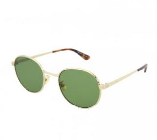 Saint Laurent Gold/Tortoiseshell Oval Sunglasses