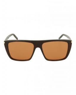 Saint Laurent Brown Square/Rectangle Sunglasses