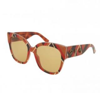 Gucci GG0059S Geometric Cat Eye Sunglasses