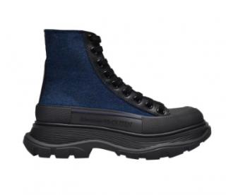 Alexander McQueen Blue Tread Slick high-top Sneakers