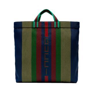 Gucci Striped Multicolour Tote Bag