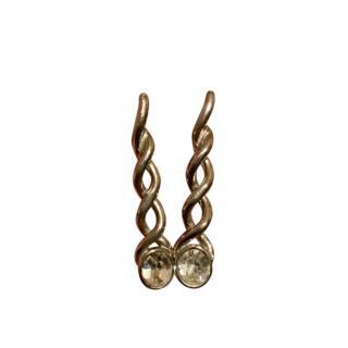 Yves Saint Laurent Vintage Crystal Drop Earrings