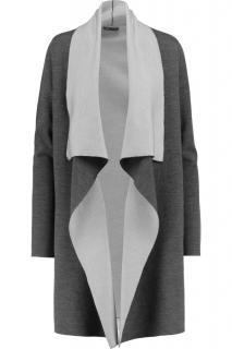 Vince Merino Wool Blend Bi-Colour Open Cardigan