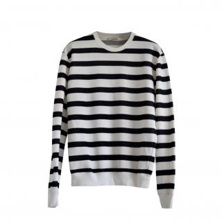 Saint Laurent Striped Cotton Long Sleeve Top