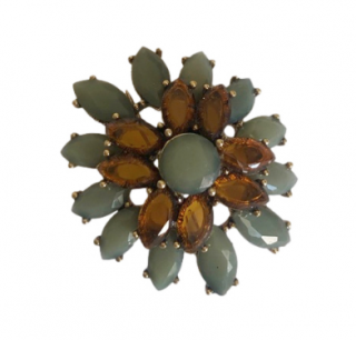 Monet Crystal Embellished Brooch