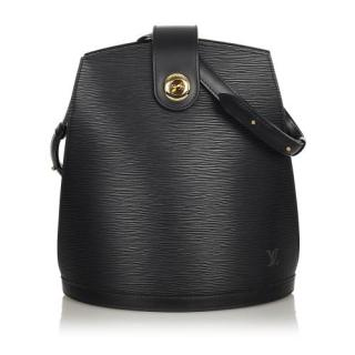 Louis Vuitton Black Epi Leather Cluny Shoulder Bag