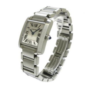 Cartier Stainless Steel Small Tank Francaise Watch