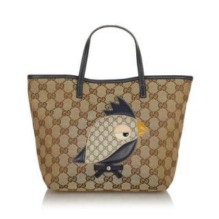 Gucci GG Canvas Zoo Handbag